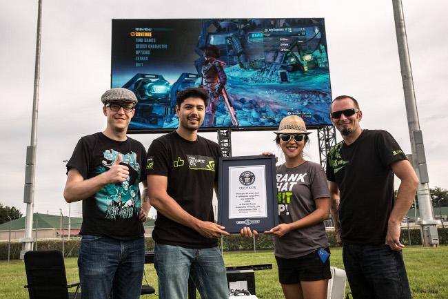 nvidia sets gaming record on 4k display
