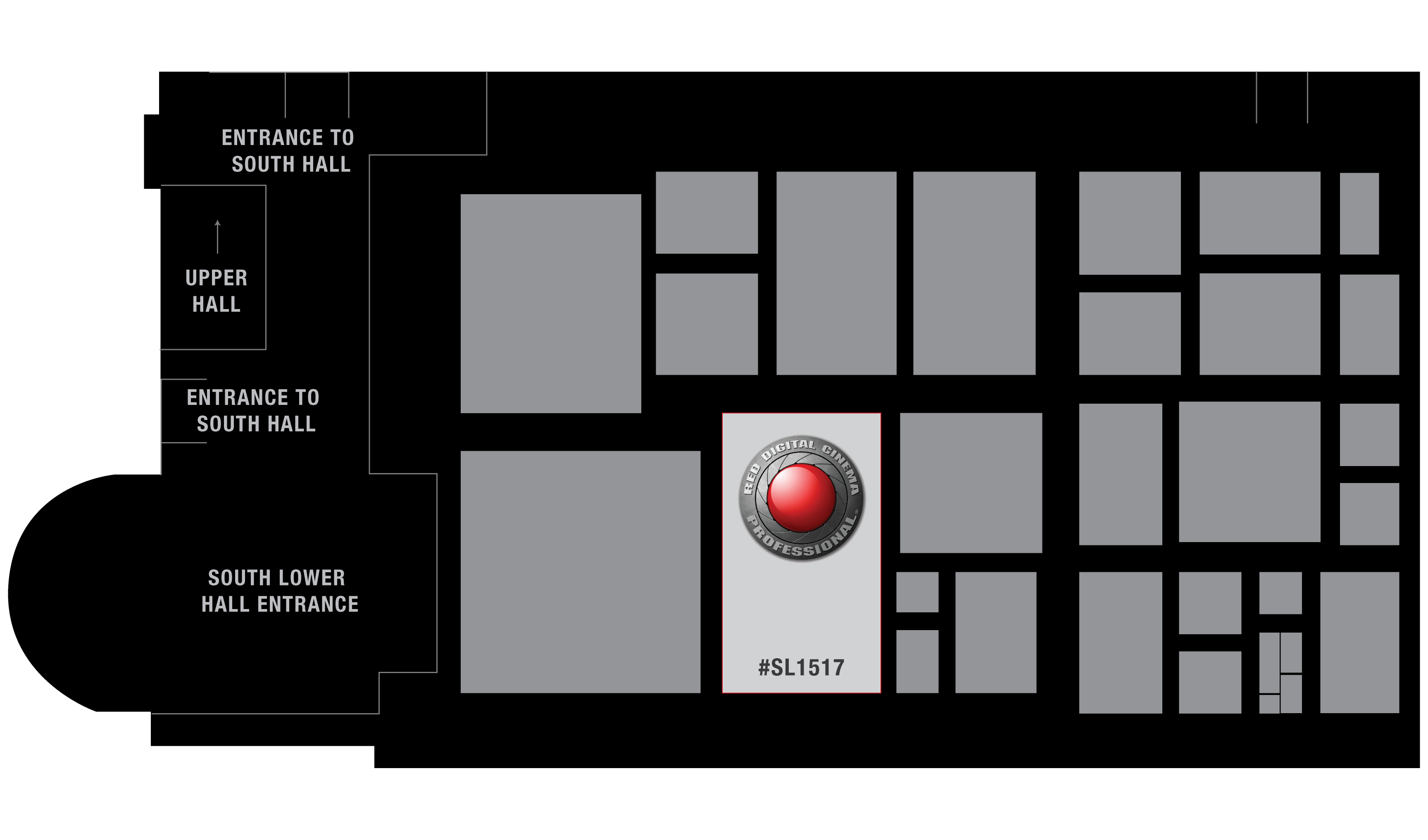 RED AT NAB 2015 - Booth Map