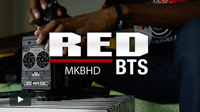 RED BTS: MKBHD Checks Out RED RAVEN