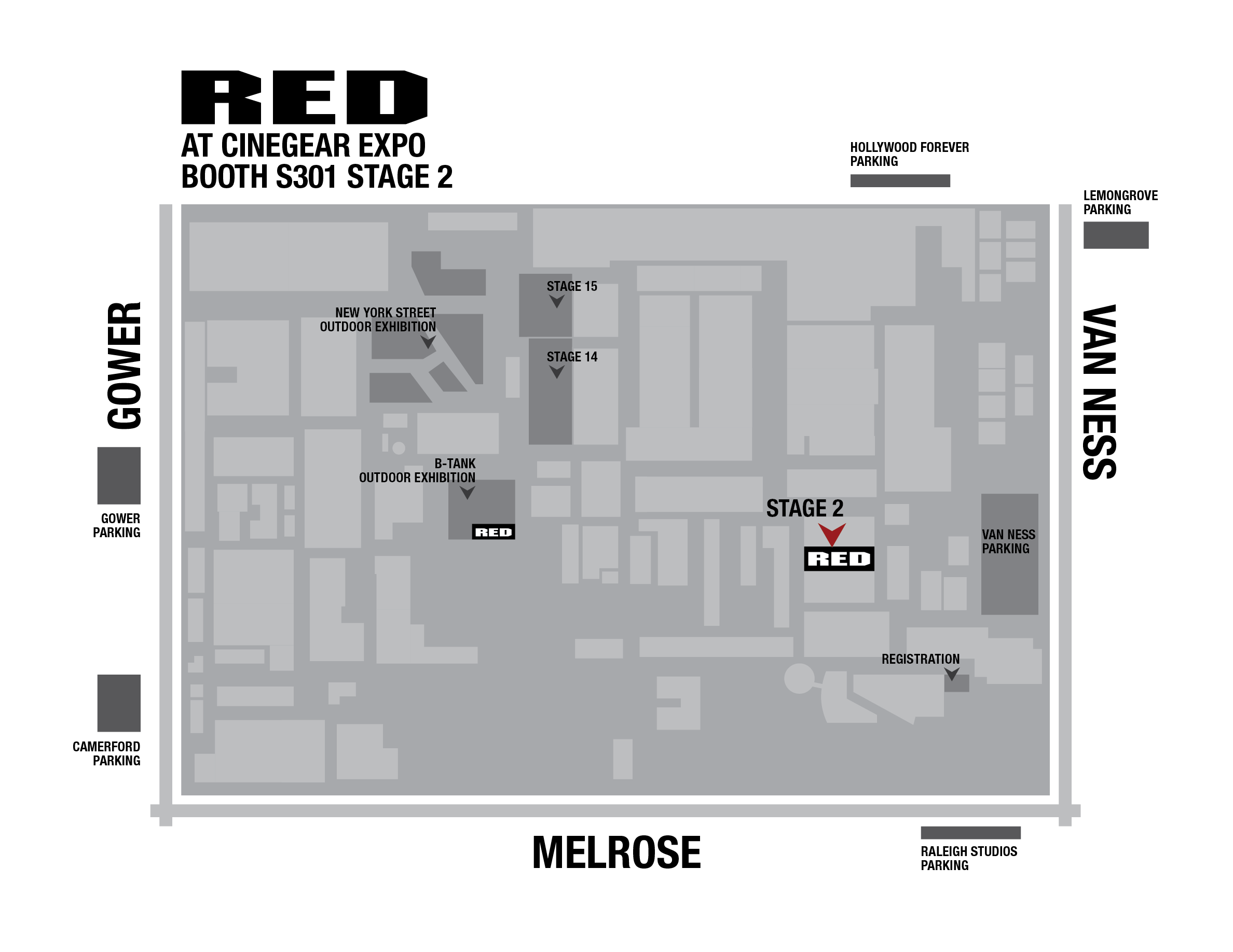 RED AT CINEGEAR 2017 - Booth Map