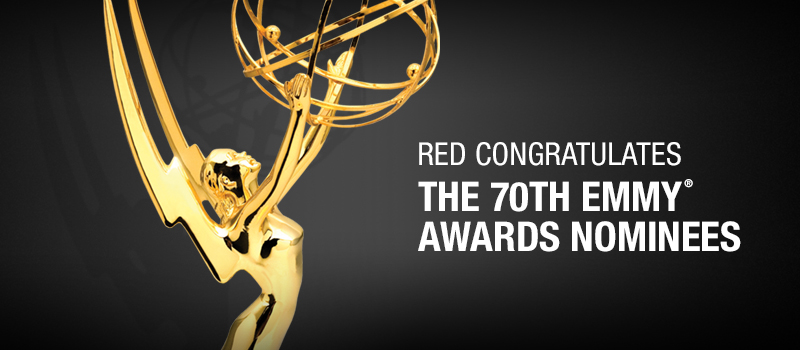 RED Congratulates 2018 Emmy Award Nominees
